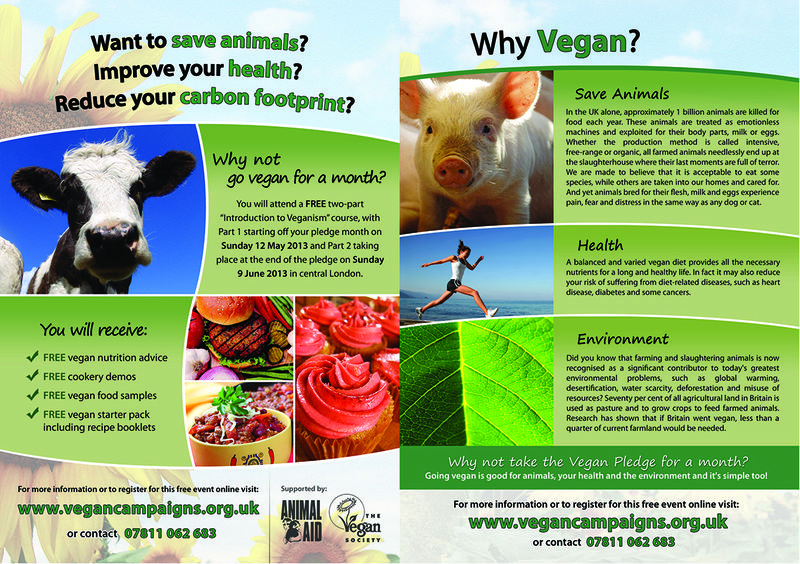 Vegan Pledge 2013 Flyer